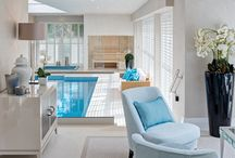 Luxury Private Spa / This truly luxurious spa complex by Hill House Interiors was designed for an international businessman and his family to enjoy whilst in the UK.