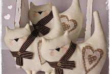 игрушки-шитье коты