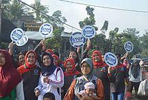 Jalan Sehat, BNN Kabupaten Kediri Kampanyekan Hidup Sehat Tanpa Narkoba