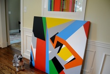 My Work - Abstract Geometric Art - Bryce Hudson / What can I say - I'm a huge fan of color, composition and pattern. The goal in my work is to explore the similarities and differences between movements within the history of art. Constructivism, Suprematism, Neo-Plasticism, Neo-Geo, early hard-edge painting - eventually arriving at a voice that is unique. / by Bryce Hudson