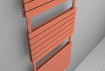 Towel rails radiators in salmon pink colour - RAL 3022 / Towel rails radiators in salmon pink colour - RAL 3022: Designer bathroom radiator with high heat output - Made-to-measure radiator - Vertical designer towel warmer - Bathroom towel rail suitable into every bathroom - Central heating radiator or electric radiator.
