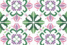 Modern cross stitch cushions