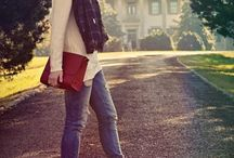 Clothing: Fall Outfits / Fall Fashion Style.  Outfit Inspiration and how to style scarves, boots, jeans and accessories.  Fall Must Haves for every closet.