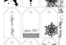 étiquettes cadeaux noel / by Classeurdecole