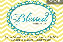 """Blessed / This board is inspiration for my first Women's Retreat based on the bible verse, Jeremiah 17:7 """"Blessed is the one who trusts in the Lord, whose confidence is in him."""""""