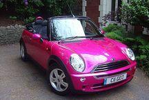 Vintage / Pink cars
