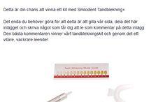 Tävla och vinn tandblekning! / Tävla med Smilodent.se
