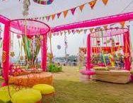 Indian Wedding outdoor mehndi function