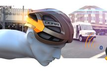 DORA – The New Generation Of Bicycle Helmets / DORA is an innovative bicycle helmet that makes bicyclists more visible on the road with built-in lighting functions and it protects the head of its wearer.