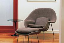 Womb Chair Replica / The Womb Chair & Ottoman by Manhattan Home Design originally designed by Eero Saarinen continues to be one of the most recognized representations of mid-century modernism. This Saarinen-inspired womb lounge chair and ottoman set has both pieces attached with cushions for maximum comfort and support. Sitting down has never looked so stylish before. The womb chair is the bastion of neo-futuristic artwork, for which designer Eero Saarinen was well-established for.