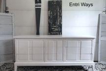 White Furniture     White Dressers     White Sideboards & Buffets / Refinished white furniture.  White dressers.  White sideboards & Buffets.