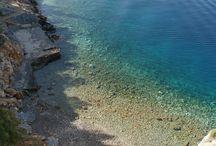 Beaches of Hydra Island, Greece