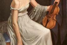 Instrumentos musicais e pinturas