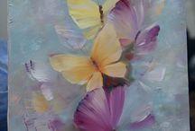 Pinturas al óleo flores