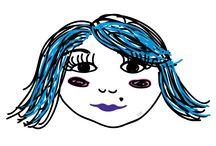 Las pestañas de... / Ilustraciones realizadas en 5 o 10 minutos para vacilar a amigas que quiero montones...