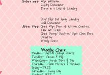 Organizing and schedule