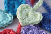 ♡ hartjes haken / crochet hearts