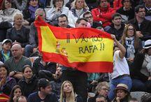 Supporters : tous ensemble ! / Perruques, maquillages, chapeaux en tous genres... les fans de tennis rivalisent d'imagination quand il s'agit de soutenir leur joueur préféré.