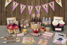 Cowgirl Birthday Party Collection