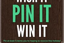 My Scrapbook.com Wish List / a Pin it and Win it contest board