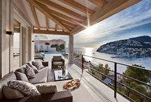 Outdoor Living Rooms / So, I am obsessed with cool outdoor living rooms. I mean, getting to have my hang out space outside? Ideally with a view... in the fresh air... shaded... I aspire one day to have an awesome one myself so for now am collecting images to get ideas...