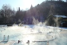 Winter Wonderland / Magic atmosphere in winter by our thermal swimming pools