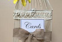 Wedding Card Birdcages