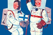 Finnish Retro Illustration 1920-1970