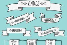 Desenhos Letras/ tags/ Banners