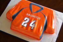broncos, blue & orange