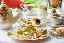 """English High Tea Events / We design your English High Tea for  Gardens Parties - Summer Fete's - Fund Raisers - Showers, Birthdays - Corporate events - *Tea Dance - and just for Fun!!!  Invite the Queen, or Kate Middleton! prefer someone a more """"historical - like Mark Twain, Queen Victoria, Charles Dickens."""