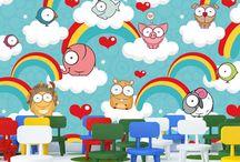 Cartoon Wall Mural / Cartoon Wall Mural