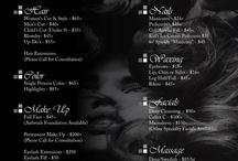 salon price lists