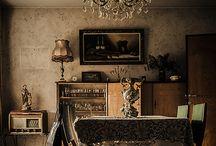 Interior views of abandoned homes