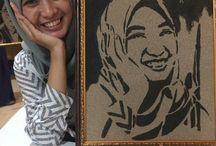 lukisan by akhyak kreatif ( lukisan pasir)