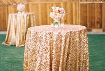 Wedding Trend - Metallics / One of the best wedding trends that will stick around for a long time - Metallics! Everything color and detail in Metallics to use in your wedding - extravagant and subtle.