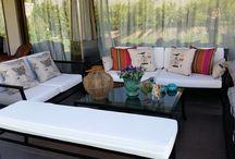 Terrazas / Muebles de fiero y pisos de terraza con estilo