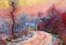 L'hiver par Monet