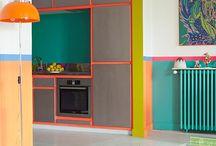 Colour graphic Interior Design