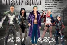Suicide Squad Halloween Invitation / Halloween  Invitation, Funny Suicide squad invitation, Become the Suicide squad characters, Harley Quinn, Deadshot, Captain Boomerang, Diablo, Joker, Enchantress