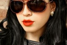 Black Hair Red Lipstick / by Helen G