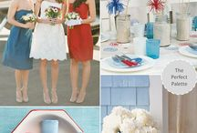 blue red and yellow wedding