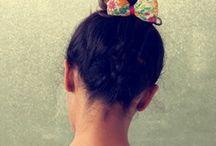 Monsoon Hair Ties / Handcrafted Fabric Bow Hair Ties