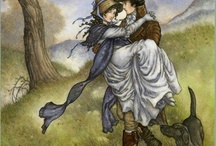 Jane Austen & Period Dramas / Jane Austen, Illustrations from her novels, Pride and Prejudice, Emma, Wives and Daughters, North and South... / by Heather D