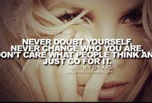 Pop singers affirmations + quotes