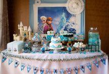 idée table anniversaire reine des neiges