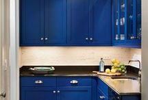 Blue Kitchen / Niebieska Kuchnia / Niebieskie urządzenia i dodatki do kuchni