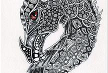 Dragon Zentangle