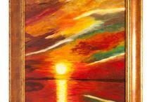 Festményeim: / Az általam festett naplementékről