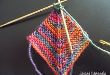 Knitted Mitred square